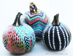 33 decorative painted pumpkin ideas! - Lolly Jane