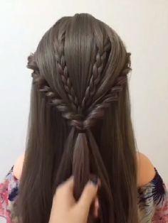 Hairstyle Tutorial 1307 - New Ideas Easy Hairstyles For Long Hair, Up Hairstyles, Pretty Hairstyles, Braided Hairstyles, Elvish Hairstyles, Wedding Hairstyles, Hair Style Vedio, Medium Hair Styles, Short Hair Styles