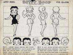 Max Fleischer Studio, Betty Boop model sheet (1938).