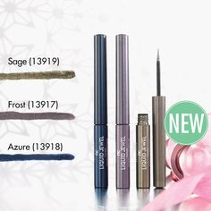 NEW Liquid Jewel Eyeliners in 3 shades to sharply define your eyes this Christmas - Azure - Frost - Sage Just 22.90 introductory offer