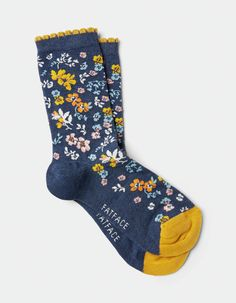 Women's floral print soft cotton ankle socks Practical Information About Women's Socks Socks are just Funky Socks, Crazy Socks, Cute Socks, Floral Socks, Designer Socks, Happy Socks, Fashion Socks, Women's Socks & Hosiery, Ankle Socks