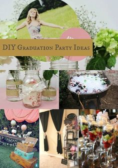 Goodwill Tips: DIY Graduation Party Ideas Graduation Diy, Graduation Celebration, Fancy Party, Diy Party, Party Fun, Graduation Party Centerpieces, Party Themes, Party Ideas, Party Hacks