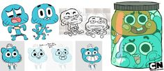 Gumball and Darwin Concept Art by WaniRamirez