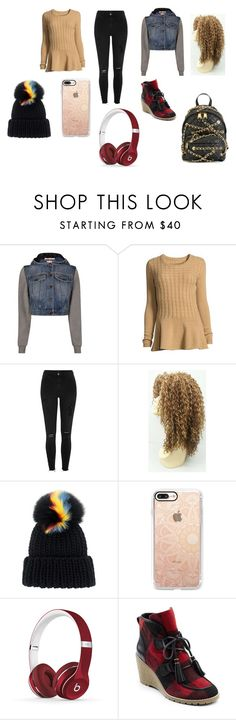 """""""MY FIRST BFF"""" by emma-387 ❤ liked on Polyvore featuring Moschino, Neiman Marcus, River Island, Eugenia Kim, Casetify, Beats by Dr. Dre and G.H. Bass & Co."""