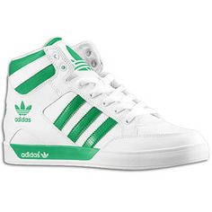 Adidas Original's Hard Court Hi - Jump Back With These Old School Premium Leather + Nylon Upper, Rubber Sole Basketball Kicks ~