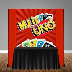 Uno Themed 6x6 Banner Backdrop/ Step & Repeat Design Print
