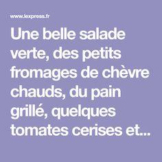 Une belle salade verte, des petits fromages de chèvre chauds, du pain grillé, quelques tomates cerises et un délicieux pesto : il n'en faut guère plus plus réaliser simplement cette entrée gourmande...