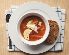 minestrone by the little red house, via Flickr