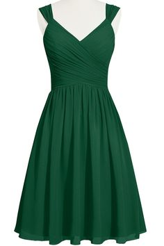 ModernBride Short Summer Chiffon Party Dresses for Girls Size 10 US Dark  Green 93032473ff