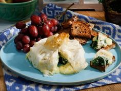 Get this all-star, easy-to-follow Baked Brie Spanakopita recipe from Geoffrey Zakarian