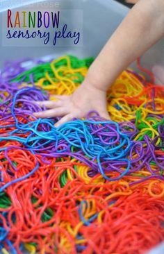 BEAUTIFUL Rainbow sensory play - Colorful, squishy FUN!