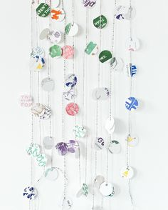 Letterpress Upcycled Paper Garland Kit | Sycamore Street Press