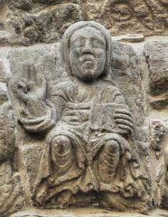 Villafranca del Bierzo, provincia de León - Pantocrator, portada románica del Perdón