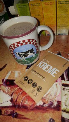 Hazelnut coffee and Kreme!