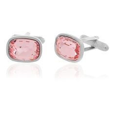 Stylish and affordable cufflinks. #pink #cufflinks #MensFashion