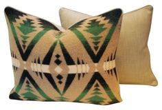 """Ralph Lauren Blanket Pillows, Pair 