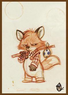 ArtStation - Little Angry Fox, Vipin Jacob