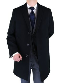 Extra high quality lining with a lot of details on the collar. Retail $549.00  but now just in $179.00 Hurry! Luciano Natazzi Men's Trend Fit Overcoat Black Wool Blend Stretch Topcoat Black