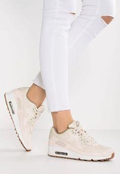 Adidas Women Shoes - Chaussures Nike Sportswear AIR MAX 90 PREMIUM - Baskets basses - oatmeal/sail/khaki beige: € chez Zalando (au Livraison et retours gratuits et service client gratuit au 0800 915 - We reveal the news in sneakers for spring summer 2017 Nike Sportswear, Nike Free Shoes, Nike Shoes, Look Fashion, Fashion Boots, Women's Shoes, Shoe Boots, Black Shoes, Zapatillas Nike Air
