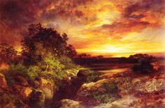 Thomas Moran -  An Arizona Sunset Near the Grand Canyon