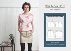 The Moss Skirt Now in Print | Grainline Studio