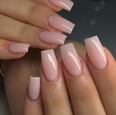 40 Fabulous Nail Designs That Are Totally in Season Right Now - nail art designs,almond nail art design, acrylic nail art, short nail designs with glitter Light Pink Acrylic Nails, French Tip Acrylic Nails, Short Square Acrylic Nails, Natural Acrylic Nails, Purple Nail, Acrylic Nails Coffin Short, Simple Acrylic Nails, Fall Acrylic Nails, Coffin Nails