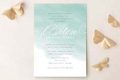 Water Wash Baptism and Christening Invitations by Lehan Veenker at minted.com
