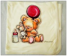 Hand painted cloth diaper