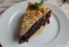 Makový koláč s ľanom a šťavnatým ovocím Spanakopita, Sweet Desserts, Nutella, Sweet Tooth, Sandwiches, Pie, Sweets, Bread, Vegan