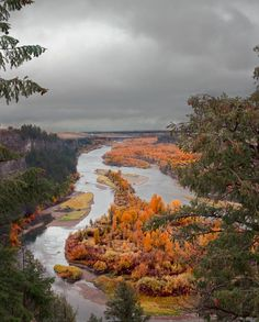 An overlook of the Snake river near Swan Valley, Idaho