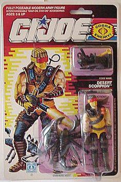 Desert Scorpion (v1) G.I. Joe Action Figure - YoJoe Archive