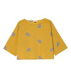 T-shirt court en coton Amande
