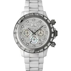 Toy Watch Kris White Full Pave Dial  found on Polyvore