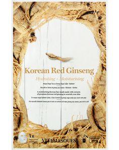 Μια ενυδατική, αντιγηραντική μάσκα προσώπου, συσκευασμένη με απαραίτητα θρεπτικά συστατικά, βιταμίνες και ανόργανα συστατικά, η Red Ginseng Sheet Mask αυξάνει την παραγωγή κολλαγόνου για πιο φρέσκια και πιο νεανική επιδερμίδα ελαχιστοποιώντας τα ορατά σημάδια της γήρανσης. Korean Red Ginseng, Korean Face Mask, Sheet Mask, Mask Making, Masks, Moisturizer, Fabric, Moisturiser, Face Masks