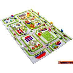 игровые коврики ковролин дороги для машинок