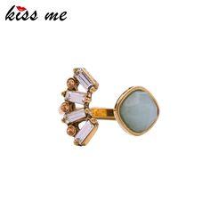 Kiss me nuovi anelli per le donne anelli di barretta di modo della lega retro accessori dei monili di marca per il partito