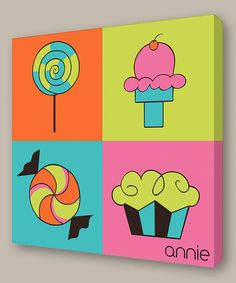 Personalized Modern Art for Kids from Lex Modern studios by artist Melanie Young