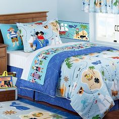 My son wants a pirate room...cute bedding!