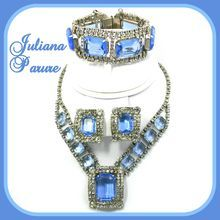 Vintage Juliana (D)  Blue & Clear Rhinestone Parure from Our Vintage Rose on Ruby Lane