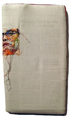 Lauren DiCioccio, 2006, Hand-embroidery on cotton muslin, upholstered around the The New York Times