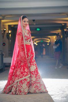 bridal lehenga, red bridal lehenga, red and silver bridal lehenga, bright red…