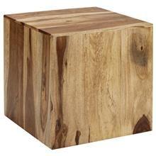 Table d'appoint cubique en bois