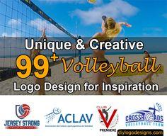 99+ Volleyball Logo Design Inspiration for Sports #sportslogo #logo #logodesign
