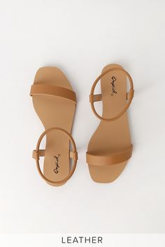 From slides to thongs, find comfy and cute women's flat sandals at affordable prices with Lulus! Our on-trend casual and dressy flat sandals are super stylish! Camel Flats, Tan Flats, Shoes Flats Sandals, Sandals Outfit, Sandal Heels, Women's Shoes, Red Shoes, Platform Shoes, Gladiator Sandals