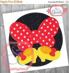 Black Friday sale Bow and Shoes Applique Design by SewEmbroidable