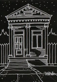New Orleans Style Shotgun House Drawing