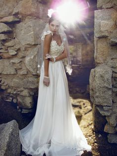 """Life is a story. Make yours a fairytale. Introducing the new """"Camellia"""" gown by Lauren Elaine Bridal. 