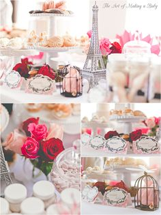 Shabby Paris themed party