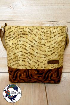 Beige brown bag shoulder cotton bag by BlueFoxAcessories on Etsy