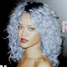 Pisces Sun Rihanna has experimented with all kinds of hair colour — she looks absolutely gorgeous in pale blue though